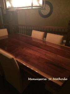 table en bois à vendre, table en noyer, dessus de table en noyer
