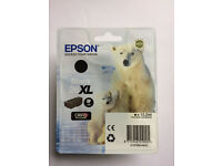 Authentic, unopened Epson Printer Cartridges, Black 26XL