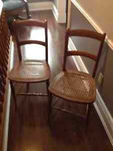 wood chairs with kane seats London Ontario image 1