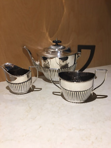 REDUCED - ANTIQUE ENGLISH SHEFFIELD SILVER PLATED TEA SET