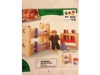 Children's room furniture for dolls house