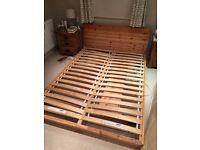 IKEA MANDAL double bed frame solid wood, great condition, hardly used, build instructions included