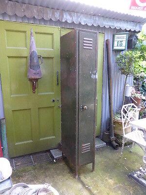 Vintage industrial style metal school locker cupboard