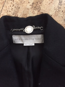 2011 Stella McCartney Black Coat SZ 38