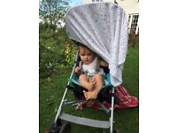 Maclaren VOLO lightweight buggy in turquoise - used
