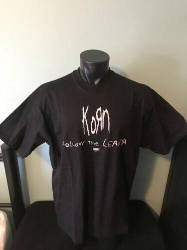 Vintage Korn Follow The Leader Epic Records Black T Shirt Mens XL NWOT