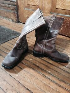 Awesome handmade leather boots from brazil-ladies 7.5-8