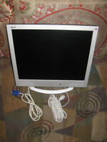 """LCD Monitor 19"""" Acer AL1931 w/Speakers and Power Supply"""