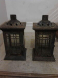Shabby Chic Candle Lantern Duo 2