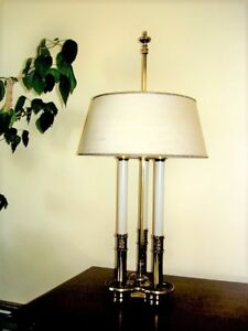 Stiffel Lamp Parchment Ivory Colored Shade