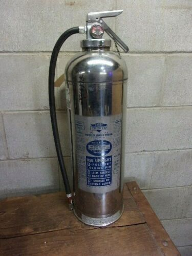 VINTAGE  Chief Croker  water can FIRE EXTINGUISHER-  EMPTY -  Obsolete