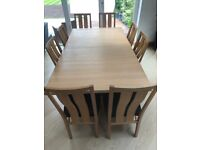 Beautiful Oak Dining Room Furniture - Extendable Table, 8 Chairs & Sideboard for sale  Solihull, West Midlands