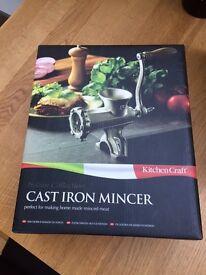 Cast iron mincer- unused
