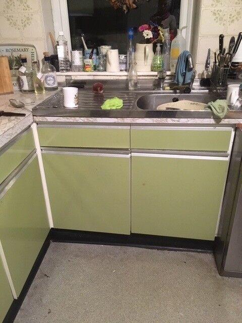 Original 1970s Vintage Retro Kitchen Cabinets Doors Drawers Grovewood In Ashburton Devon Gumtree