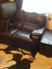 Sofa, 3 seater, Black-Good Condition