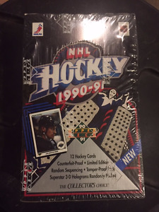 1990-91 Upper Deck Hockey Sealed Wax box Jagr Rookie