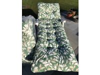 New Deluxe Thick Garden Patio Sun Bed Lounger Cushion Brand New In Bag