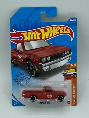 HOT WHEELS 2020 HW HOT TRUCKS FLAT RED DATSUN 620 K CASE