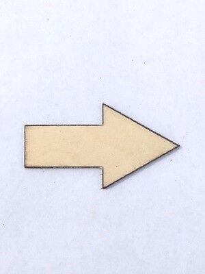 Crafting Supplies -- Set of 25 Arrows, Unfinished Laser Cut Wood, Craft, Shape - Unfinished Wood Craft Supplies