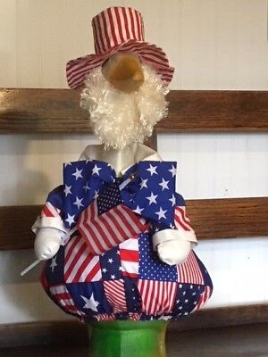 Goose Clothes: Uncle Sam Waving Old Glory Goose Outfit by Silly Goose