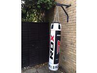 Like New -- RDX 4FT Heavy Punch Bag & Gloves