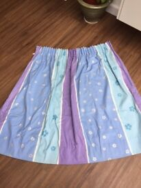 2 pairs of purple and blue cotton fabric curtains. Collect from Fulham