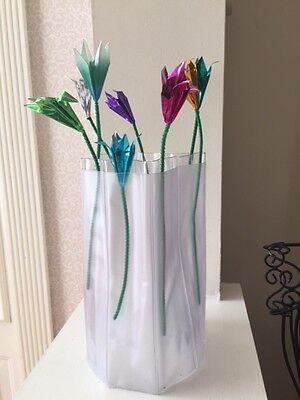 Plastic Foldable Flower Vase - Package of 10 - Great Deal!](Clear Plastic Vase)