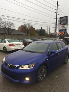 2012 Lexus CT 200h F-SPORT!,AUTOMATIC,HYBRID!CERTIFIED!LOADED!