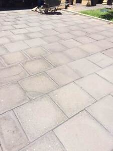 Grey drive way pavers Netherby Mitcham Area Preview