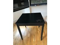 Small Black Breakfast/Study Table
