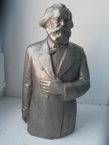 KARL MARX Vintage russian metal USSR bust figurine German communist Original