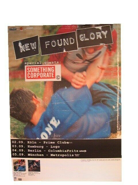 New Found Glory German Tour Poster Something Corporate
