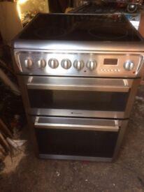 £146.99 Hotpoint sls/black ceramic electric cooker+60cm+3 months warrantyf or £146.99