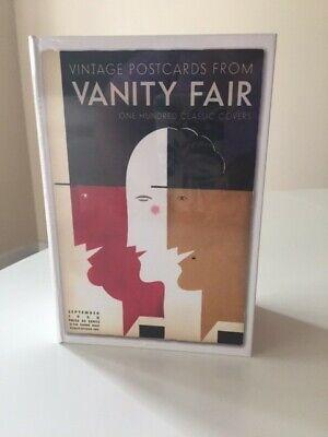"Set de 100 cartes postales ""Vanity Fair"" vintage"