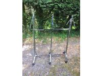 Chrome Finish Clothes Rail on Castors , Buyer Collects