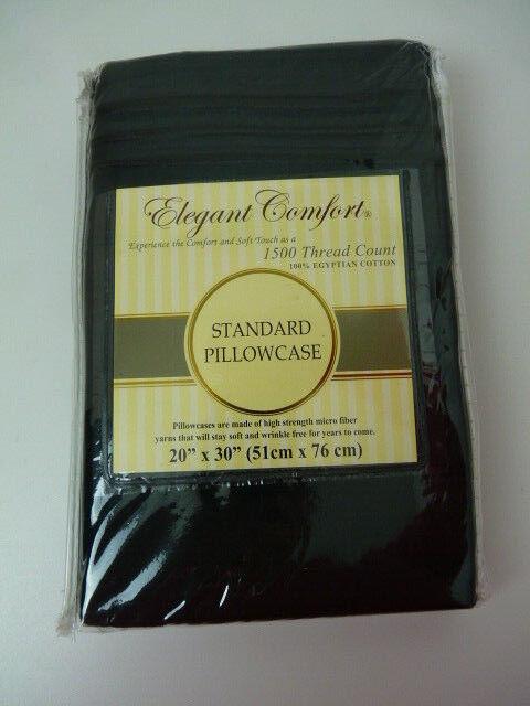 One  Elegant Comfort Black 20x30 Standard Pillow Case