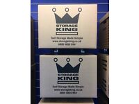 Medium Double walled cardbaord boxes 18 x 13 x 13 inches x 10 pack £25.00