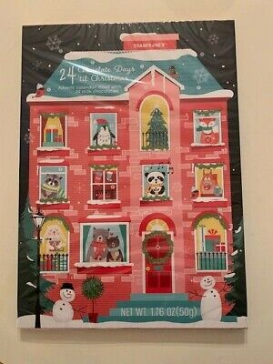 2020 Trader Joe's Chocolate Advent Calendar for Christmas! Factory Sealed !NEW!!
