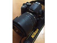 Nikon D3100 digital camera + lens and useful travel bag for sale!
