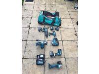 Makita 18V Li-ion 7 piece combo kit