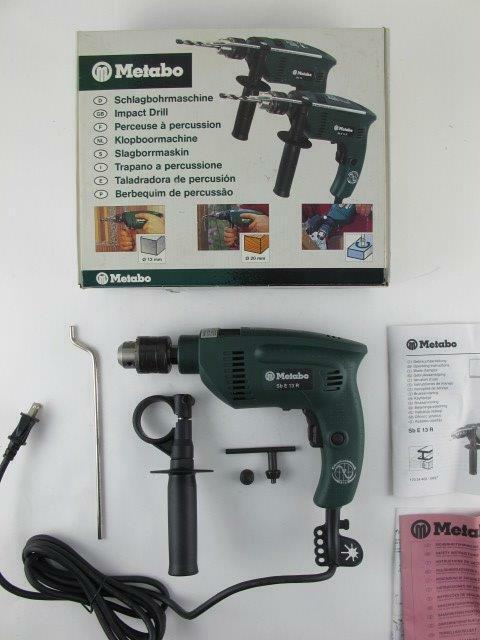 Metabo NEW $299 Heavy Duty SBE13R Impact Driver Drill Depth Gauge & Handle SBE