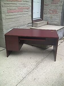Solid office desk for sale.
