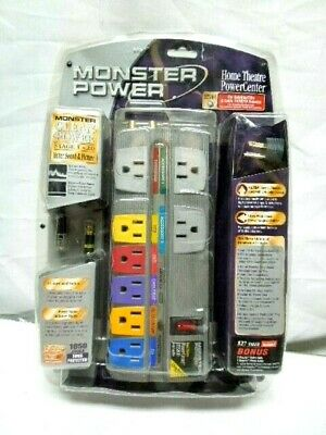 Monster Power Home Theatre HTS800 Surge Protector 8 Outlet TV Best /