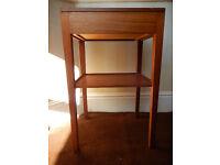 Single Vintage Remploy bedside table with drawer, marked September1968