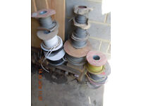 Various domestic part used cable on reels