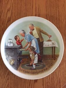 "Norman Rockwell - ""The Csatari Grandparent Plate 1982"""
