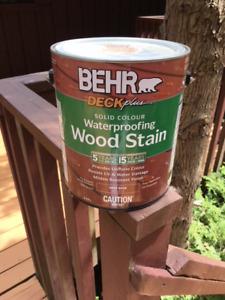 BEHR Deck Stain - 4 Gallons - Padre Brown Colour