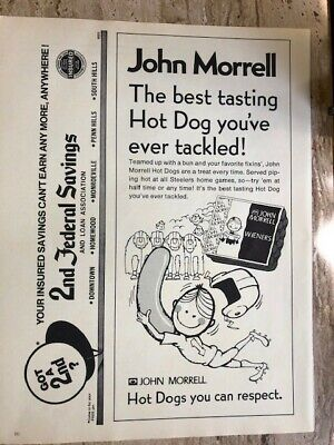 PittsburghSteelers 1973 John Morrell Wieners (Hot Dogs) Advertisement from PRO!