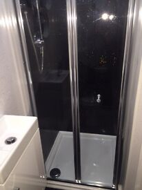 Shower Tray and Bifold Door (new and sealed)