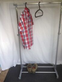 Free standing clothes rail and shoe rack
